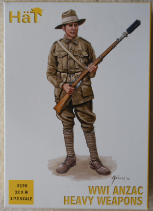 HaT 1/72 HAT8190 ANZAC Heavy Weapons (WW1)
